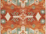 Orange and Green area Rug Mohawk Home Prismatic Eidenau Sunset Aztec Precision Printed area Rug 8 X10 orange and Green