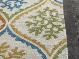 Orange and Green area Rug Terra Collection Hand Tufted area Rug In Cream Blue Green
