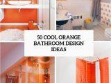 Orange Bathroom Rugs and towels 50 Cool orange Bathroom Design Ideas Digsdigs