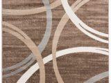"Orian Rugs Fleet Gray area Rug Modern Abstract Circles Design area Rug 7 10"" X 10 2"" Brown"