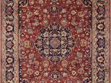 Oriental Weavers Braxton area Rug Hand Knotted Shaunte Red Blue Wool and Natural Fiber Rug 10