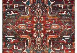 "Oriental Weavers Sedona area Rug oriental Weavers Sedona Red orange southwest Lodge Indoor area Rug 5 3""x7 6"""
