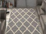 Ottomanson Ultimate Collection Moroccan Trellis Design Shag area Rug Ottomanson Ultimate Shaggy Collection Moroccan Trellis