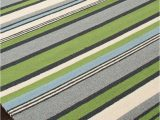 Outdoor Rug Blue and Green Lime Green and Blue Striped area Rug