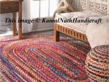 Oval area Rugs Near Me Hand Braided Bohemian Colorful Cotton Chindi area Rug Multi