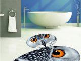 Oval Bathroom Rugs and Mats Us $34 99 Else Gray Owl Eyes Modern 2 Pcs 3d Pattern Print Bath Mats Anti Slip soft Washable Oval Bathroom Mat toilet Rugs Bath Mats Aliexpress