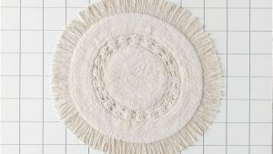 Oversized Round Bathroom Rugs Raine Crochet Round Bath Mat In 2020
