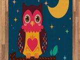 Owl area Rug for Nursery Amazon Lunarable Owl area Rug Nursery Style Cartoon
