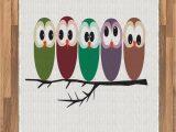 Owl area Rug for Nursery Amazon Lunarable Owl area Rug Nursery Style Owls On A