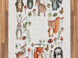 Owl area Rug for Nursery Amazon Printawe Cartoon area Rug Owl Reindeer Beer