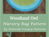 Owl area Rug for Nursery Crochet Pattern Woodland Owl Crochet Rug Pattern Nursery