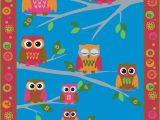 Owl area Rug for Nursery Hoot Hoot Owl Childrens Rug
