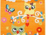Owl area Rug for Nursery Ladole Rugs Mkds Adorable Cute Owls Flowers Modern Kids