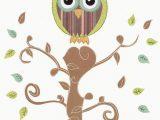 "Owl area Rug for Nursery Print 8 X 10"" Owl & Tree Wall Art Nursery Decor Kids Room"