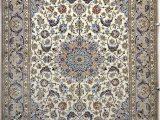Pale Blue Persian Rug isfahan Silk Persian Rug Item 777