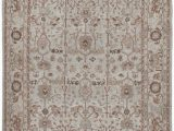 Pale Blue Persian Rug Nasiri Persian Traditional Kurdish Hand Knotted Rug In Ivory Pale Blue and Rust Colors