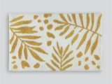 Palm Leaf Bath Rug 100 Cotton Palm Leaf Bath Mat 80cm X 50cm