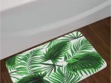 Palm Leaf Bath Rug Ambesonne Palm Leaf Bath Mat Realistic Vivid Leaves Of Palm Tree Growth Ecology Lush Botany themed Print Plush Bathroom Decor Mat with Non Slip