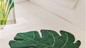 Palm Leaf Bath Rug Monstera Leaf Bath Mat Urban Outfitters Tropical
