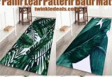 Palm Leaf Bath Rug Palm Leaf Pattern Bath Mat European Home Decor Tropical