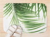 Palm Leaf Bath Rug Palm Leaves Green Vibes 9 Tropical Decor Art Bath Mat