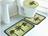 Palm Tree Bathroom Rug Set 3 Pc Palm Tree Bathroom Rug Set Absorbent Non Slip Large