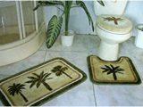 Palm Tree Bathroom Rug Set Amazon Com 3 Pieces Tropical Green Palm Tree Bathroom