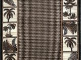 Palm Tree Design area Rugs Buy Palm Tree Modern area Rug Tropical Black & Green Design