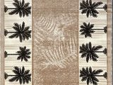 Palm Tree Design area Rugs Palm Tree Modern area Rug Tropical Beige & Green Design 729 5 Feet X 7 Feet