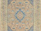 Peach and Blue Persian Rug 9 10 X 12 9 Kashmar Persian Rug