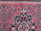 Peach and Blue Persian Rug No 0038 Dark Peach and Blue Antique Persian Rug