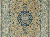 Peach and Blue Persian Rug Peach 295cm X 395cm Mahal Persian Rug