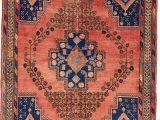 Peach and Blue Persian Rug Peach 4′ 6 X 6′ 5 Sirjan Persian Rug In 2020
