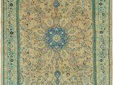 Peach and Blue Persian Rug Peach 9 9 X 13 6 Mahal Persian Rug
