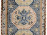 Peach and Blue Persian Rug World Market Boho