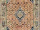 Peach and Blue Rug Peach 7 X 10 5 Maymeh Persian Rug