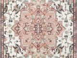 Peach and Gray area Rug Bungalow Rose Dario Blush Pink Grey area Rug Bungalowrose