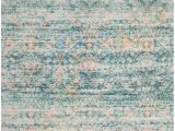 Peach and Gray area Rug Saffron Fade Turquoise Peach area Rug