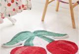 Peach Bath Rug Set Cherries Bath Mat Bathroom Red Peach Bathroom Bathroom