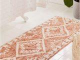 Peach Bath Rug Set Sienna Kilim Bath Mat Bathroom Rugs Boho Bathroom Bath