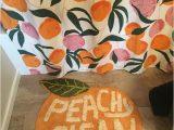 Peach Bath towels and Rugs Peachy Clean Bath Mat