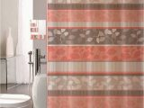 Peach Bathroom Rug Sets 18 Piece Bathroom Set with Rugs Mats Shower Curtains Rings