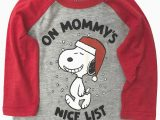 Peanuts Holiday Bath Rug Peanuts Infant Boys Mommys Nice List Snoopy Christmas Holiday Tee Shirt Walmart