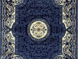 Persian Rug Navy Blue Traditional Persian area Rug Navy Dark Blue Black & Beige Carpet King Design 101 5 Feet 2 Inch X 7 Feet 3 Inch
