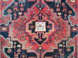 "Pink and Blue oriental Rug 4 4""x7 5"" Vintage Persian Rug"