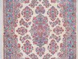 """Pink and Blue oriental Rug Kerman Persian oriental Rug 6'4"""" X 9'1"""" 7954"""