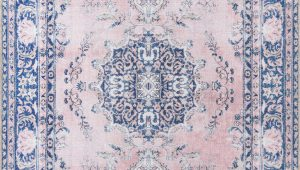 Pink and Blue oriental Rug Neptune oriental Pink Blue area Rug