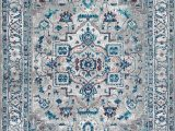Pink and Blue Persian Rug Lawrence Hill Modern Persian Vintage Medallion Power Loom Light Grey Blue Rug