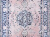 Pink and Blue Persian Rug Neptune oriental Pink Blue area Rug