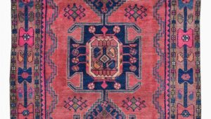 Pink and Blue Persian Rug Semi Antique Pink and Blue Persian Hamadan oriental Runner